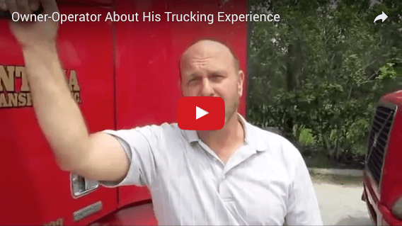 Owner-Operator About His Trucking Experience