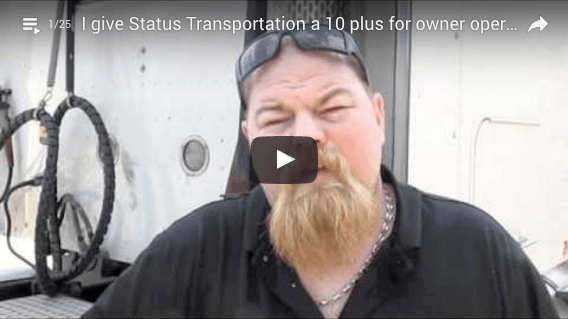 Owner Operator leasing 6 trucks to Status Transportation