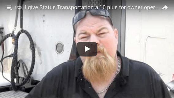 Owner Operator leasing 6 trucks to Status Transportation