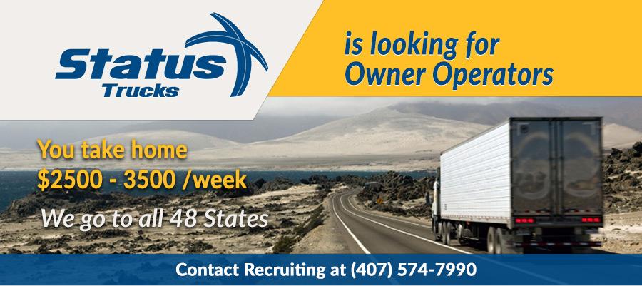 Owner operator jobs   Status Transportation Owner Operator ...
