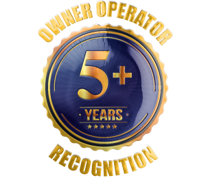 Owner operator 5 year recognition
