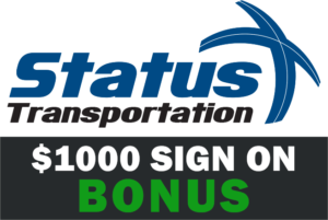 Status Transportation sign on bonus.
