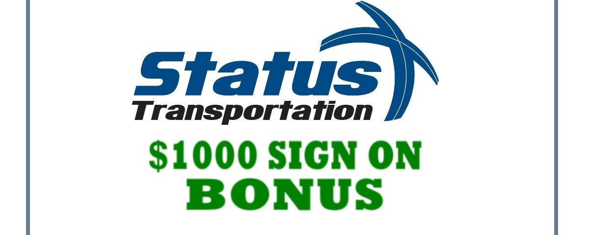Status Transportation Sign-On bonus
